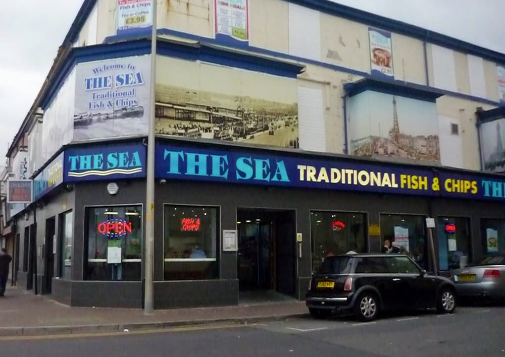 The sea fish chips fast food blackpool united for Fish fast food near me