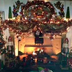 Country House - Christmas fireplace - Stony Brook, NY, Vereinigte Staaten