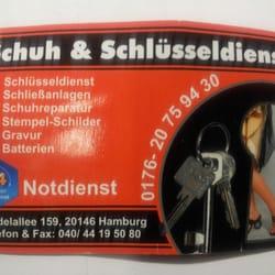 Schuh, Schlüsseldienst und Änderungsschneiderei, Hamburg, Germany