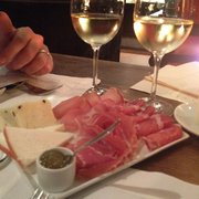 meat, cheese, and white wine!