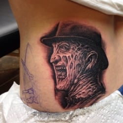 Outer limits tattoo an in progress freddy krueger by for Outer limits tattoo long beach