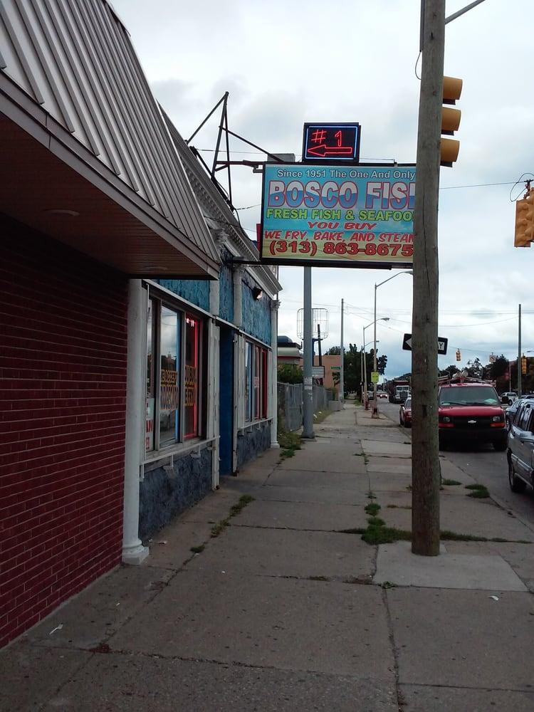 Bosco fish seafood seafood markets detroit mi for Detroit fish market
