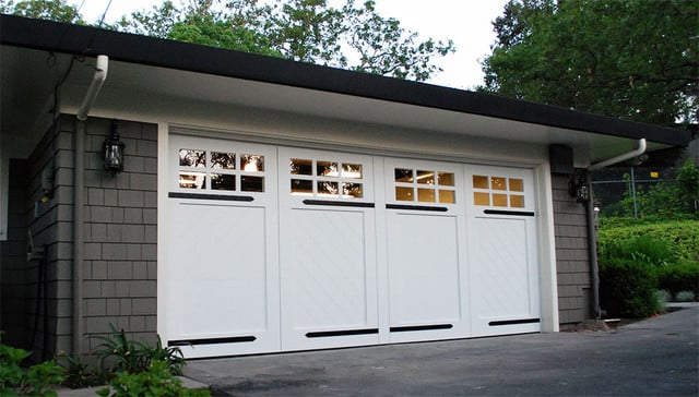 Custom made composite wood garage doors in orange county for Composite wood garage doors