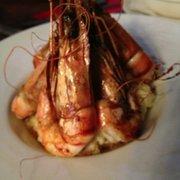 Café Roussillon - Paris, France. Shrimp risotto