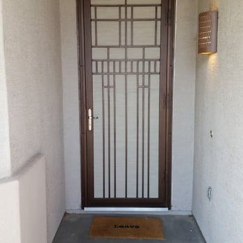 how to install a security screen door on stucco 2