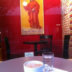 Perugino - Eugene, OR, United States. Homemade chai and a ham and Swiss panini, phenom.