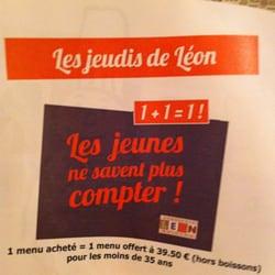 Brasserie Léon de Lyon - Lyon, France. Super affaire tous les jeudis ! A tester !