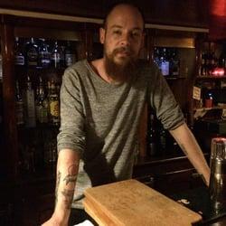 La Vénus Noire - Paris, France. Simon at the bar