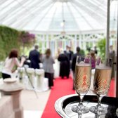 Roxburghe Hotel - champagne flutes special for bride and groom - Kelso, Scottish Borders, United Kingdom