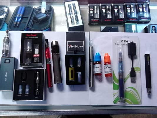 Electronic cigarettes that take liquid