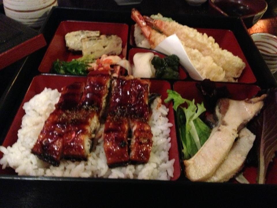 bento box shrimp tempura bento shrimp teriyaki and shrimp tempura