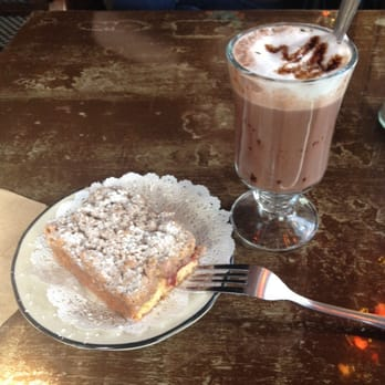 The Witches Brew - Raspberry Crumb Cake and Hot Chocolate - West ...