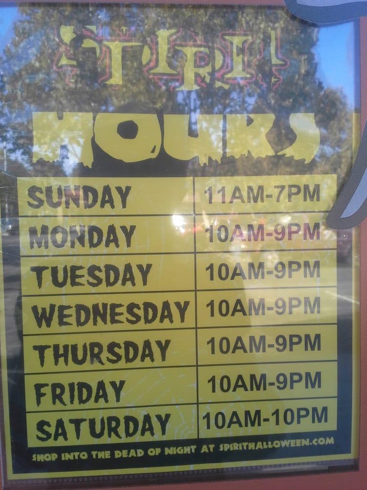 Spirit Halloween Store Hours Fremont Hub Shopping Center