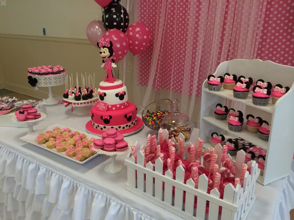 33 minnie mouse themed candy buffet ideas table for Decoration sweet table