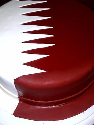 Qatar Cake Art : Qatar flag cake Yelp