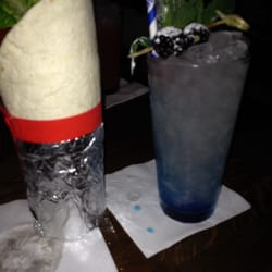 Burrito mojito (!) and a Mickey blue…