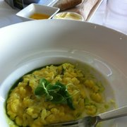 Saffron and basil risotto, starter.