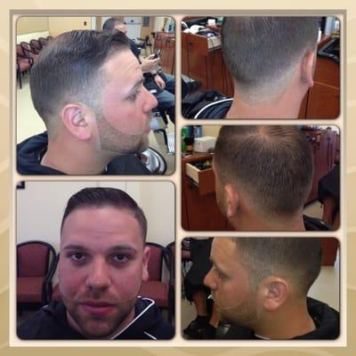 Barber Shop Edison Nj : Clips Barber Shop - Comb over with medium fade and beard - Edison, NJ ...