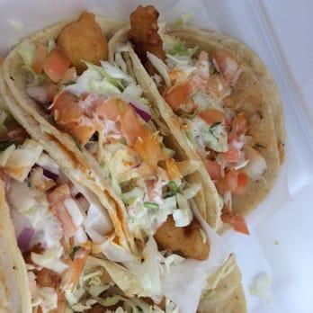 Baja california fish tacos 214 photos mexican for Baja fish tacos menu