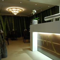 Theke mit Blick in das Bambus-Zimmer