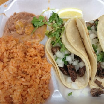 ... Pepe - Honolulu, HI, United States. steak soft tacos w/ rice & beans