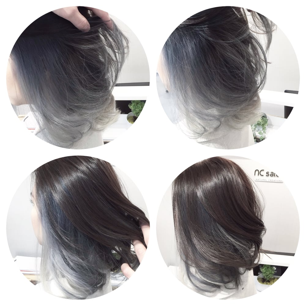 Balayage Ombre Hair Color Gray Newhairstylesformen2014 Com