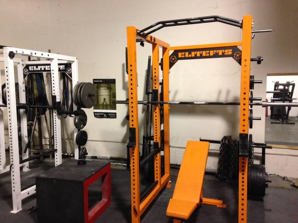 EliteFTS Collegiate Squat Rack w/ adjustable EliteFTS ...