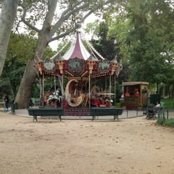 Whimsical carousal close to park entrance