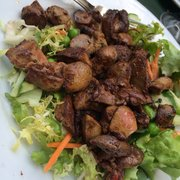 Highly rec entree! Salad with chicken…