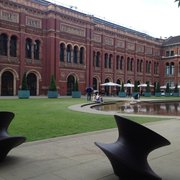 Courtyard with super cool chairs