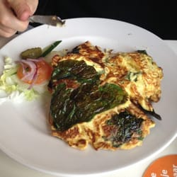 Omelette on farmers bread