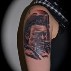 James Dean Portrait Tattoo, Independent Color Tattoo & Piercing Studio in Essen, Marius Pieniak