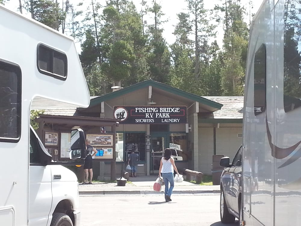 Fishing bridge rv park rv parks yellowstone national for Fishing bridge rv park