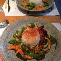 Firecracker chicken, and prawn curry.…