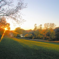 Franciscan Retreats - a view of the sunset from our 60 acres of trails - Prior Lake, MN, Vereinigte Staaten