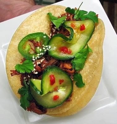 Korean Spicy BBQ Chicken Tacos Recipe — Dishmaps