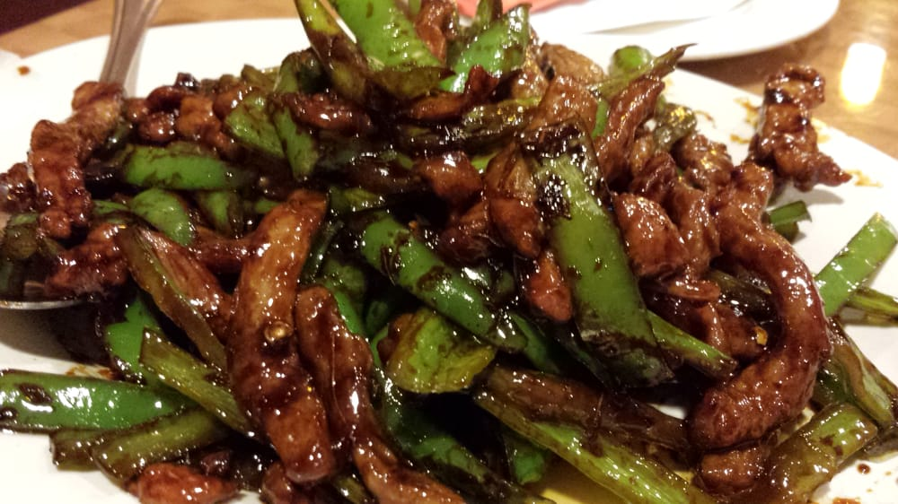 How Lee Chinese Food - Shredded beef with green chili peppers ...