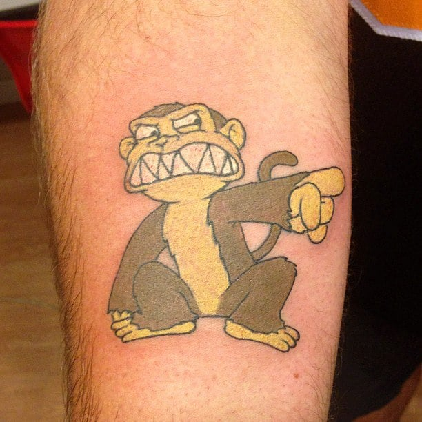 Evil monkey family guy tattoo