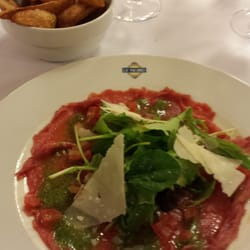 Le Nord - Lyon, France. I had the four course menu of the day, including the Charolais carpaccio of beef.  Yum!