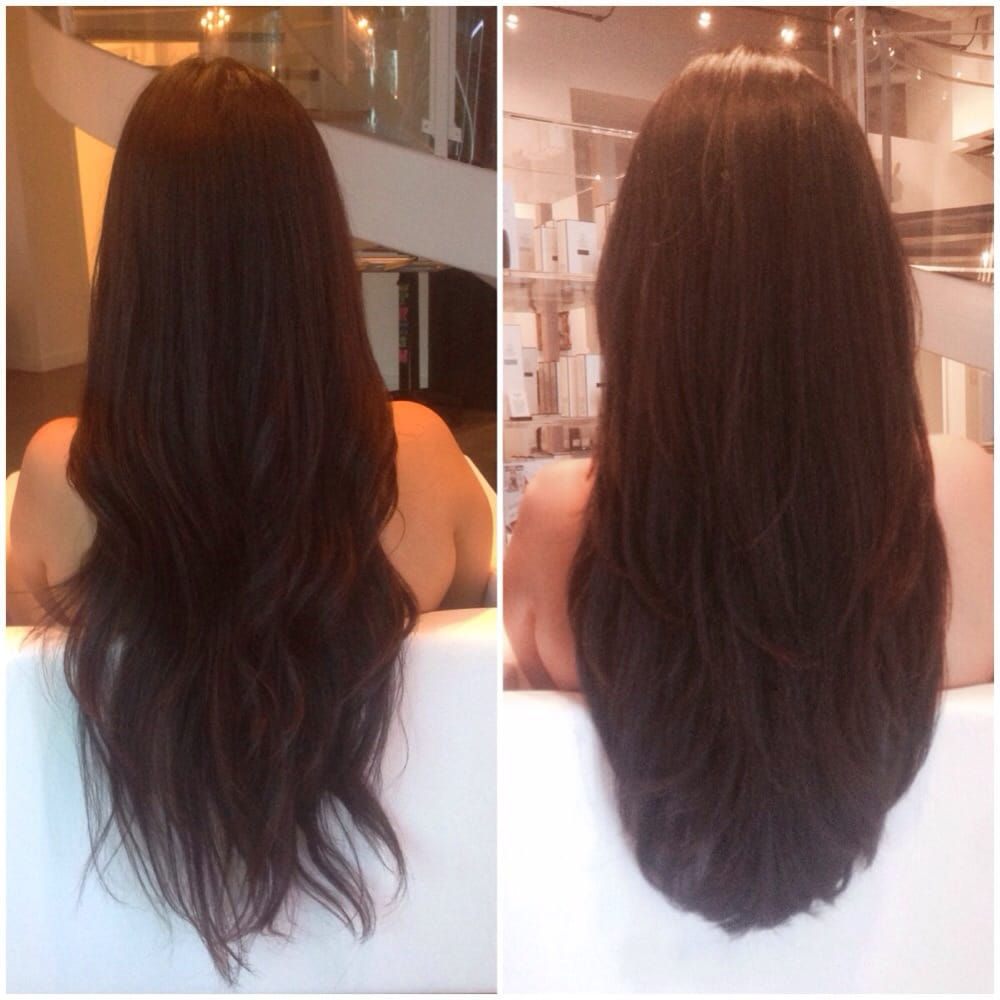 Before And After Long Layers Haircut Hairstylegalleries Com