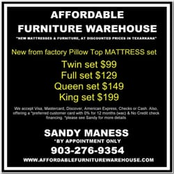 Affordable furniture warehouse texarkana tx yelp for Affordable furniture texarkana