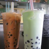 Vietnamese coffee and honeydew smoothie