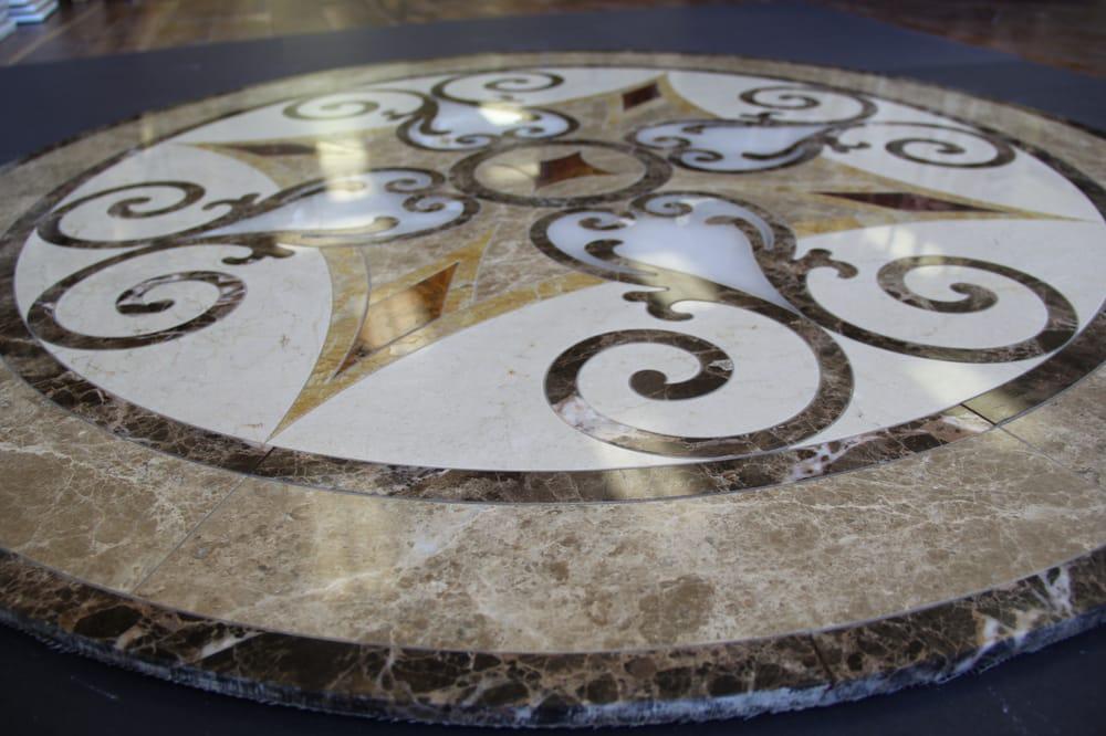 Emperador Dark Marble Floor Medallions 48 : Emperador dark marble medallion in houston yelp