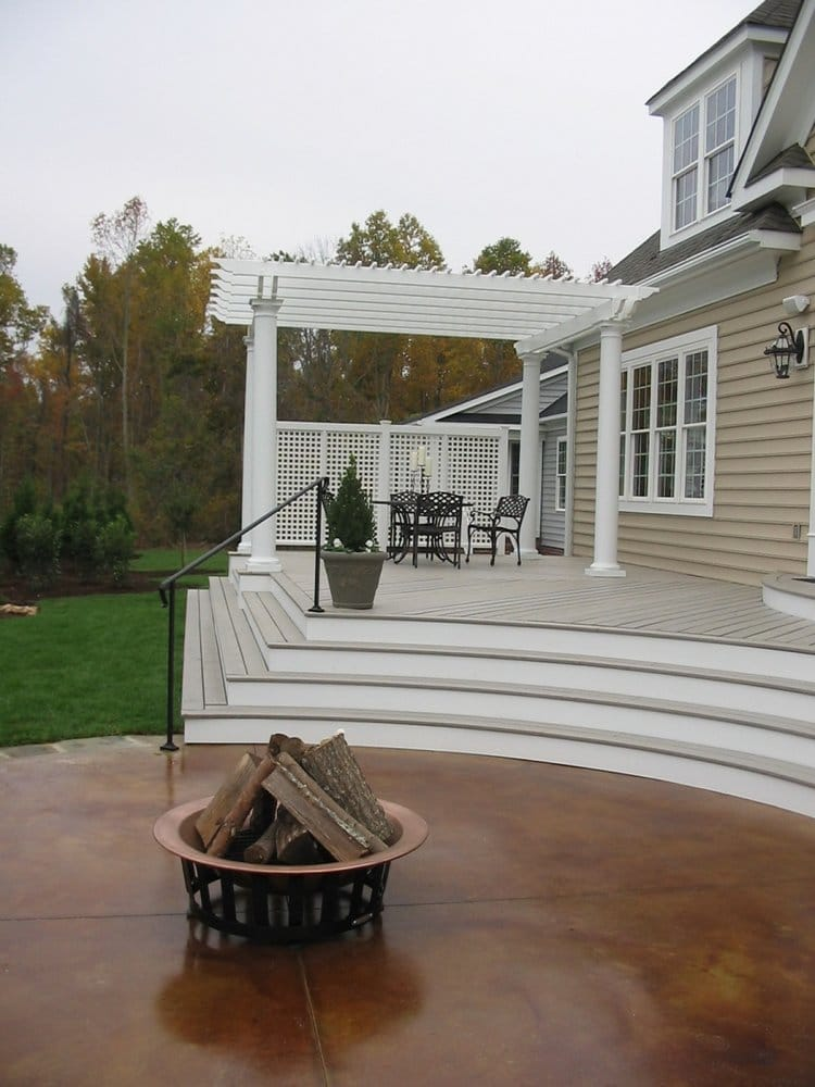 This Stained Concrete Patio Deck Amp Pergola Are Part Of A
