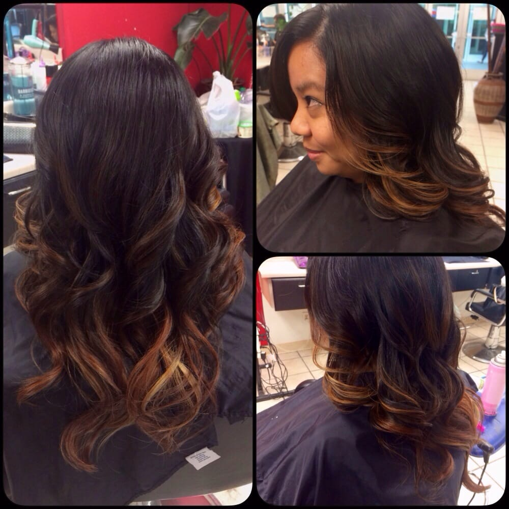 ... of color correcting previous red dyed hair. Balayage. Stylist:Kimmie