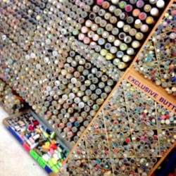 Wall of button