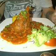 My favourite lamb shank.. With a bit of side salad also a aromatic rice which only comes with special dishes..