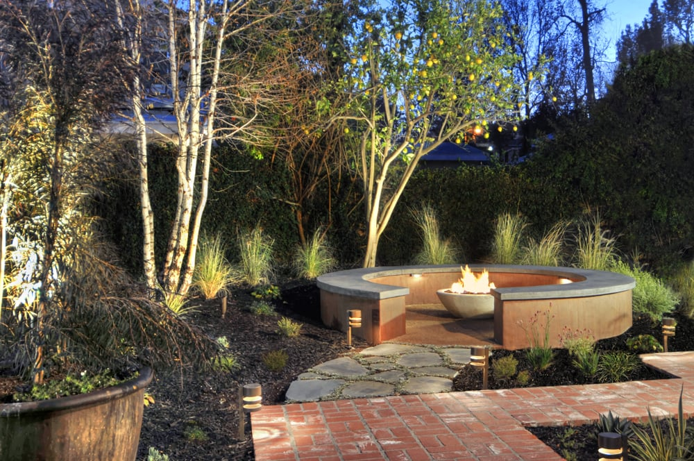 drought tolerant full backyard design custom stained