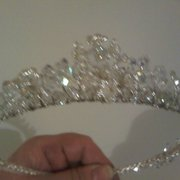 Brtidal Tiara made of swarovski crystals