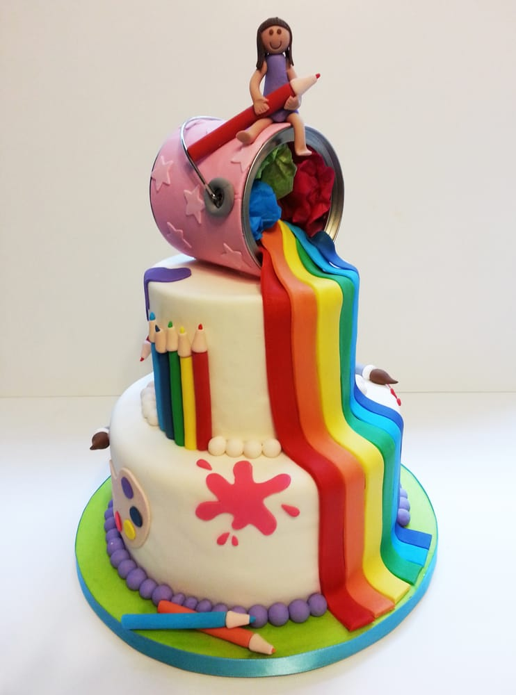 Cake And Art Yelp : Art Rainbow cake - Yelp